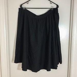 Forever 21 Plus Size Black A-Line Midi Skirt